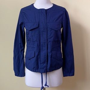 GAP Cotton Lightweight Navy Blue Utility Jacket
